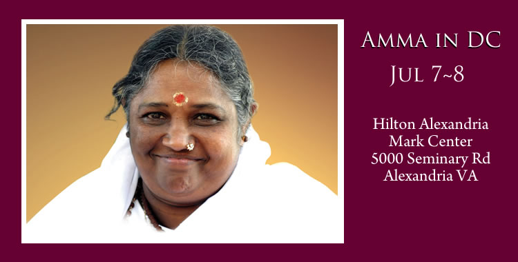 Amma in DC July 7th and 8th